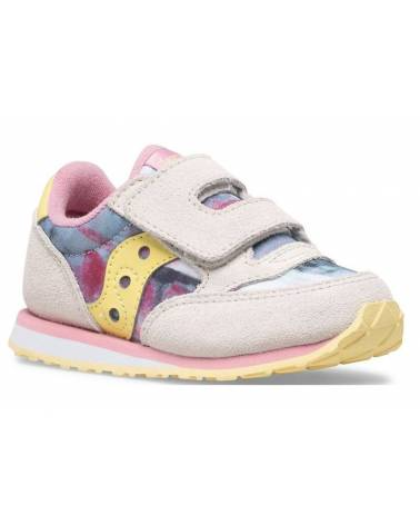 SAUCONY BABY JAZZ HL  WHITE/PINK/MULTICOLOR